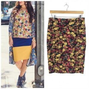 LulaRoe Floral Cassie Pencil Skirt Medium 10-12